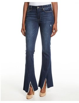 Lou Lou High Rise Flare Split Hem Jeans by Paige