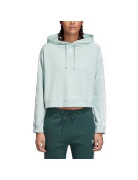 Adidas Originals Adicolor 3 Stripe Cropped Hoodie by Foot Locker