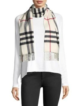 Checkered Cashmere Scarf by Burberry