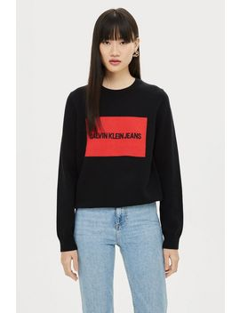 Institute Box Sweatshirt By Calvin Klein by Topshop