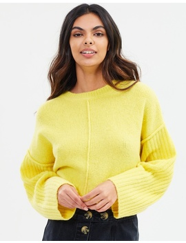 Whimsy Wide Sleeve Cropped Pullover by Cotton On