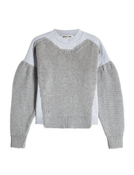 Cotton Sweatshirt With Knitted Detail by Mc Q Alexander Mc Queen