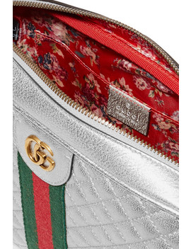 Trapuntata Metallic Quilted  Leather Shoulder Bag by Gucci
