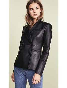 Leather Blazer by Theory