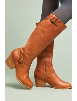 Anthropologie Buckled Riding Boots by Anthropologie