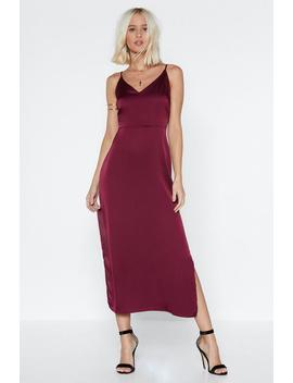 Smooth Sailing Satin Dress by Nasty Gal