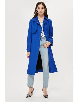 Crepe Trench Coat by Topshop