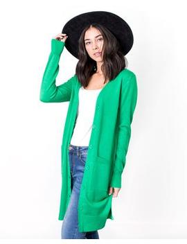 Jill Long Button Cardigan by Cents Of Style