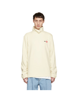 Off White Over Wrapped Turtleneck by Ader Error