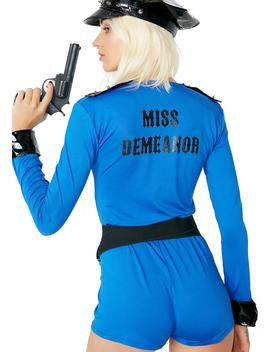 Miss Demeanor Cop Costume by Dolls Kill