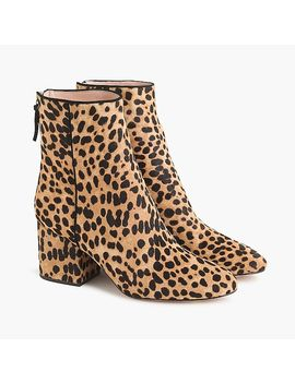 Sadie Ankle Boots In Leopard Calf Hair by J.Crew