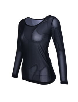 Women Sheer Mesh Long Sleeve See Through Blouse Seamless Tops Shirt Party Gift by Unbranded
