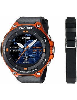 Casio Men's 'pro Trek' Resin Outdoor Smartwatch, Color:Orange (Model: Wsd F20 Rgbau) by Casio