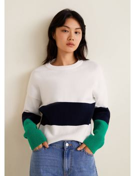 Pull Over Rayures Horizontales by Mango