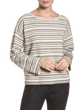 Stripe Organic Cotton Blend Sweater by Eileen Fisher