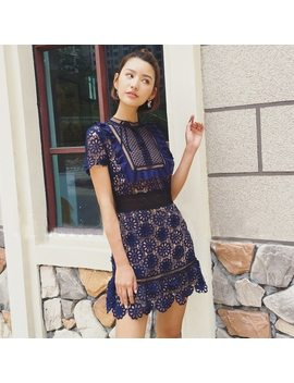 Self Portrait 2018 New Vintage Elegant Lace Dress Women Sexy Hollow Out Party Dresses Summer Fashion Wearing  Vestidos by Tdvictory