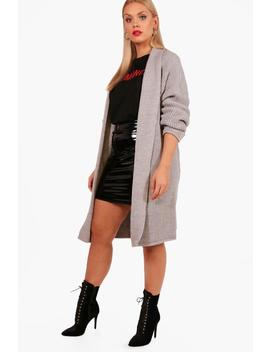 Plus Oversized Chunky Cardigan by Boohoo