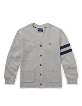 Cotton Mesh Letterman Cardigan by Ralph Lauren