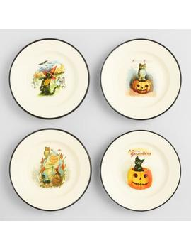 Vintage Halloween Snack Plates Set Of 4 by World Market