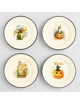 vintage-halloween-snack-plates-set-of-4 by world-market