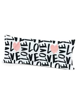 Your Zone Graphic Love Body Pillow Cover by Your Zone