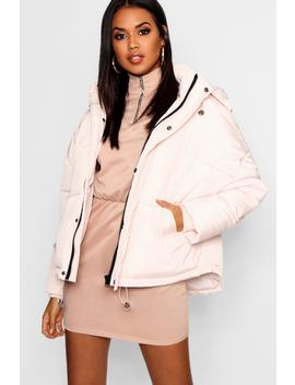 Oversized Hooded Puffer Jacket by Boohoo