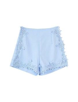 Dabuwawa Summer 2018 Women Shorts Lace High Waist Wide Leg Lace Shorts by Dabuwawa