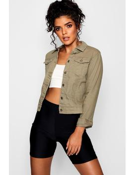 Fitted Denim Jacket by Boohoo