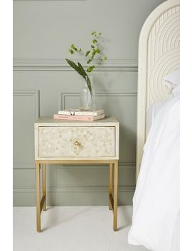 Star Inlay Bedside Table by Anthropologie