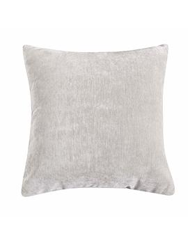 Loom & Mill Decor Throw Pillow Cover, Chenille Couch Cushion Case, Luxury Pillow Sham, Euro Pillowslip For Sofa Couch Car Bed With Zipper Hidden   (18 X 18 Inch, Cream) by Loom & Mill Chenille Pillow Case