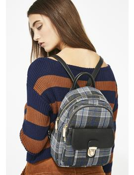 Perfect Attendance Plaid Backpack by Joia