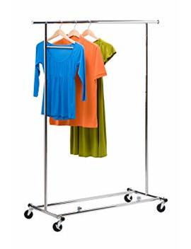 Honey Can Do Gar 01304 Collapsible Commercial Garment Rack With Wheels, Chrome by Honey Can Do