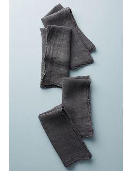 Frayed Linen Napkins, Set Of 4 by Pom Pom At Home