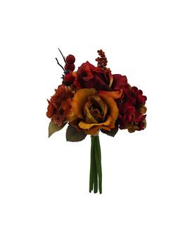 Blooming Autumn Rose, Hydrangea & Berry Bouquet Red & Gold                      Blooming Autumn Rose, Hydrangea & Berry Bouquet Red & Gold by Blooming Autumn