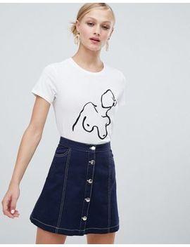 Camiseta Blanca Con Diseño De Pechos De Monki by Asos