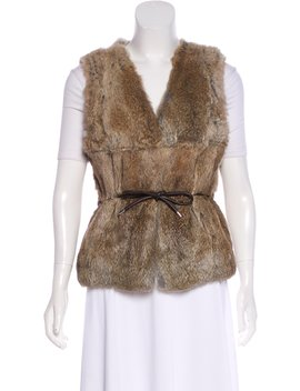 Belted Fur Vest by Coach