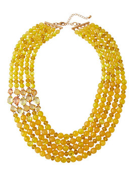 Multi Strand Beaded Necklace by Lydell Nyc