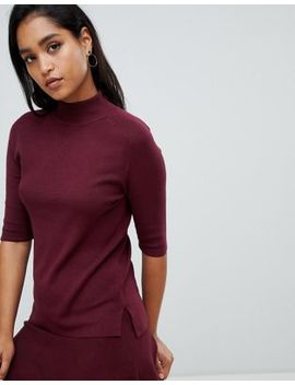 Y.A.S Knitted High Neck Sweater And Mini Skirt Two Piece by Asos Brand