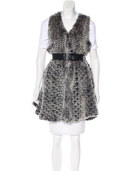 Belted Vest by Fur
