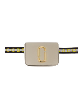 Beige Logo Strap Hip Shot Pouch by Marc Jacobs