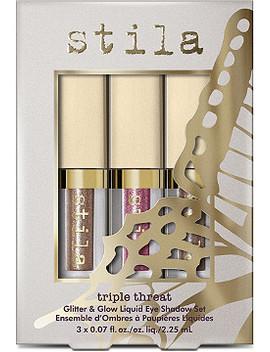 Triple Threat Glitter & Glow Liquid Eyeshadow Set by Stila