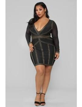 Not The One Bandage Dress   Black by Fashion Nova