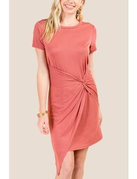 Noelle Twist Front Knit Dress by Francesca's