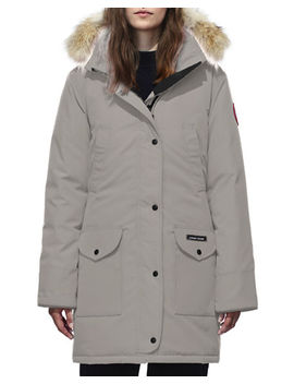 Trillium Down Parka Coat W/ Natural Coyote Fur Trim by Canada Goose