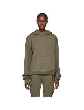 Grey French Terry Hoodie by Haider Ackermann