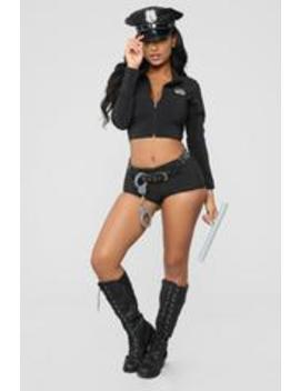 Miss Law And Order Costume   Black by Fashion Nova
