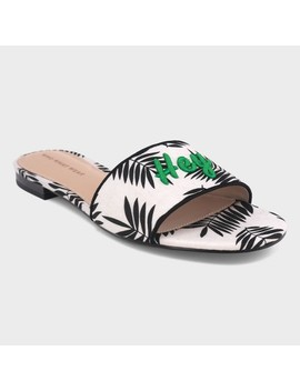 Women's Sloane Palm Slide Sandals   Who What Wear™ by Who What Wear