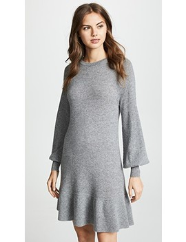 Bishop Sleeve Cashmere Ruffle Dress by Autumn Cashmere