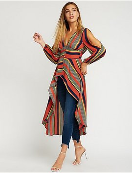 Stripe Hi Low Tunic by Charlotte Russe