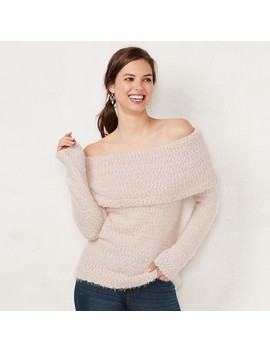 Women's Lc Lauren Conrad Off The Shoulder Chenille Sweater by Kohl's